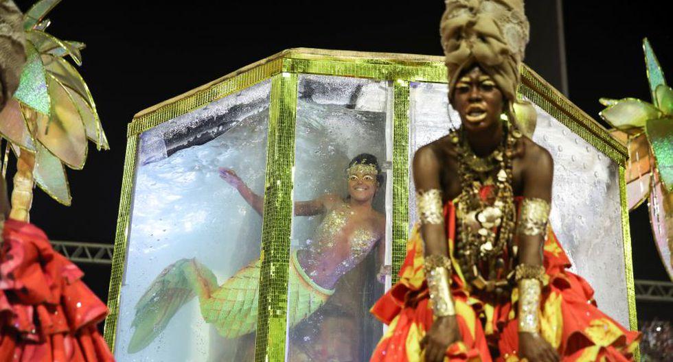 La sirena era Anna Giulia, la única mujer negra en el equipo brasileño de natación sincronizada. (Foto: Reuters/Archivo).
