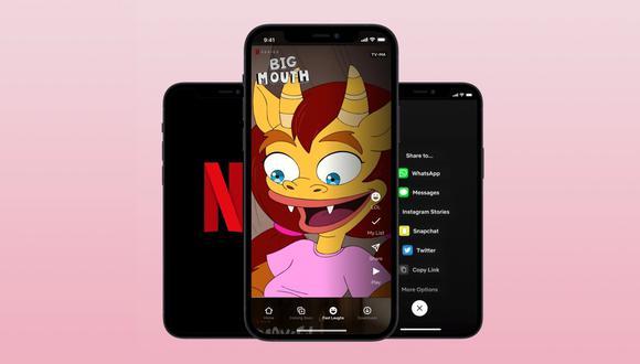 Netflix estrena los clips divertidos en un formato similar a TikTok. (Imagen: Netflix/Xataka)