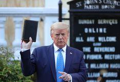 """Trump asegura que fue al búnker de la Casa Blanca el viernes pasado solo para """"inspeccionarlo"""""""