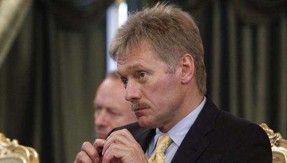 """Peskov aseguró que Rusia no tiene """"ningún motivo"""" para no aceptar los resultados de las elecciones de presidente de la Interpol. (Foto: EFE)"""