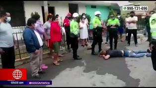 SMP: vecinos capturan y golpean a delincuente que intentó robar en vivienda