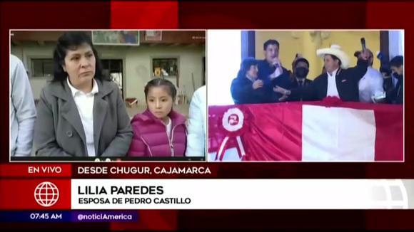 Pedro Castillo's wife speaks after JNE proclamation