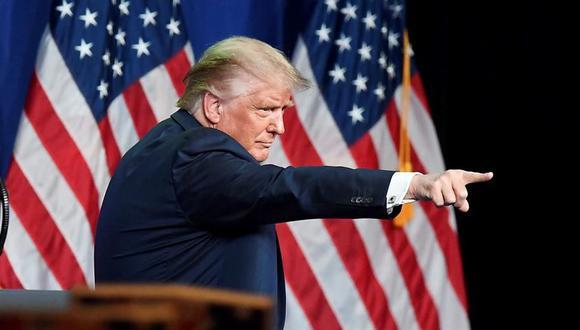 Donald Trump habló en el primer día de la Convención Republicana que se realiza en Charlotte. (EFE/EPA/David T. Foster III / POOL).