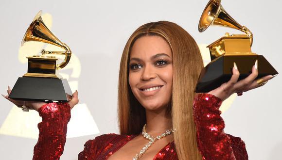 En esta imagen de 2017 se ve a Beyonce, la artista con el mayor número de nominaciones en la 63ª Entrega de los Premios Grammy. (Foto: AFP)