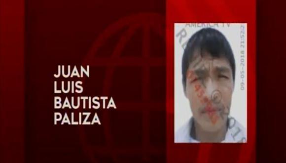 Juan Luis Bautista Paliza estranguló a Santusa Chumbes Condori, con quien tuvo una relación de 20 años, luego de haber sido detenido hace dos semanas por agentes de la comisaría de 10 de Octubre por violencia familiar. Ese mismo día fue liberado. (América Noticias)
