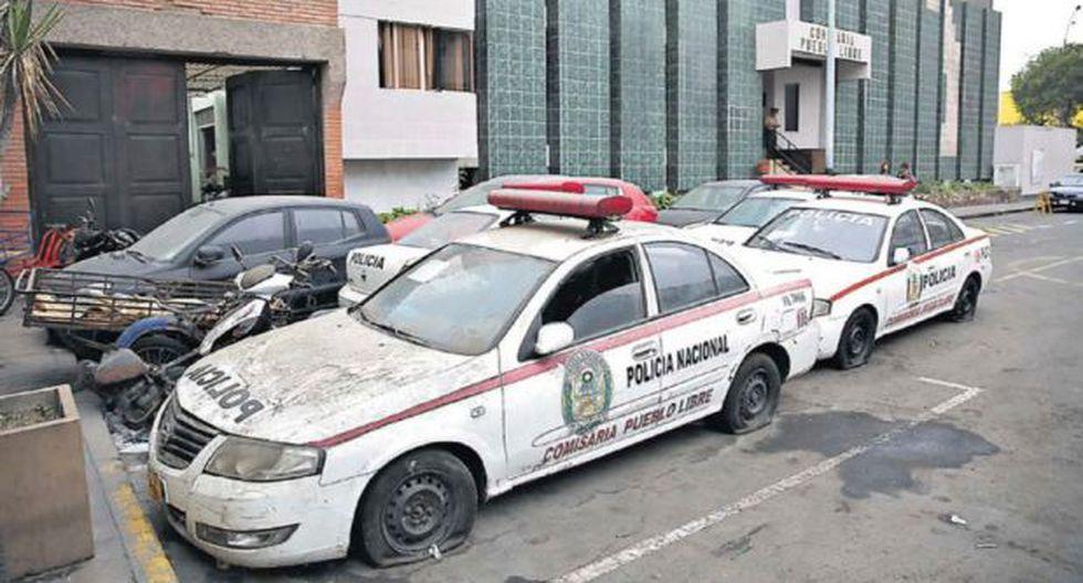 Comisarías son depósitos de motos y patrulleros averiados