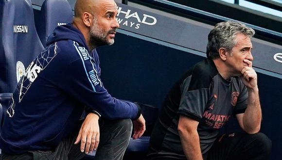 Pep Guardiola fichó a Juan Manuel Lillo hace seis para para integrar su comando técnico en el Manchester City. (Foto: EFE)