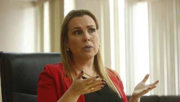 Fiorella Molinelli, presidenta ejecutiva de EsSalud, se pronunció sobre el pago a las clínicas privadas por atenciones a afiliados con COVID-19. (GEC)