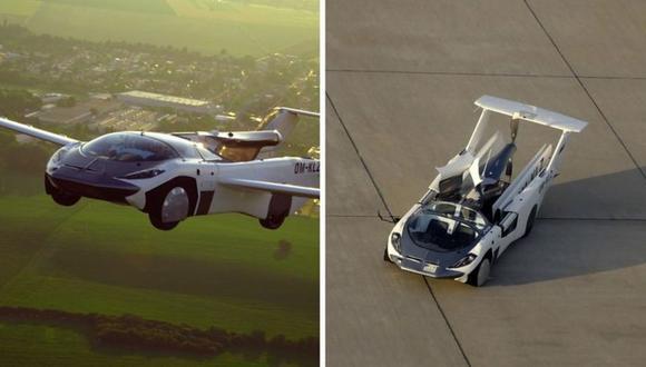 Así es AirCar, un prototipo de auto-avión híbrido. (Foto: KLEIN VISION)