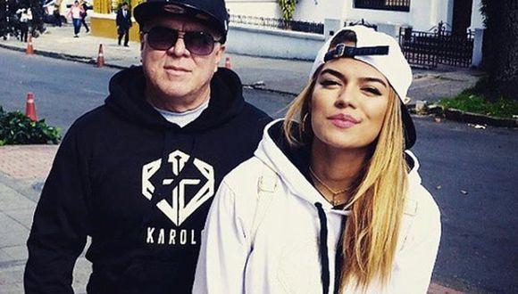 """Guillermo Giraldo, más conocido como """"Papá G"""", es el principal impulsor de la carrera de su hija y ella le agradeció todo su apoyo tras el 'boom' de 'Tusa'. (Foto: Instagram)"""