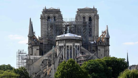 Solo el 9% de las donaciones prometidas para Notre Dame se han materializado. (AFP).