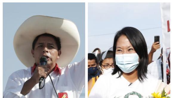 Pedro Castillo y Keiko Fujimori disputan la segunda vuelta electoral. (Foto: Composición)