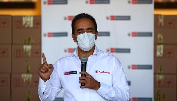 El ministro del Interior, Gastón Rodríguez, se pronuncio sobre las compras irregulares de mascarillas y alcohol para los agentes que patrullan en las calles durante la pandemia. (GEC)