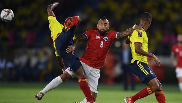 Chile perdió en su visita a Colombia por las Eliminatorias sudamericanas   Foto: @CONMEBOL
