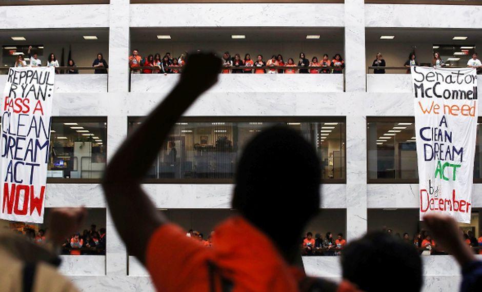 """Donald Trump pidió al Congreso de Estados Unidos que resuelva la situación del DACA con una ley que otorgue estatus legal permanente a los """"dreamers"""". (Foto: AFP)"""