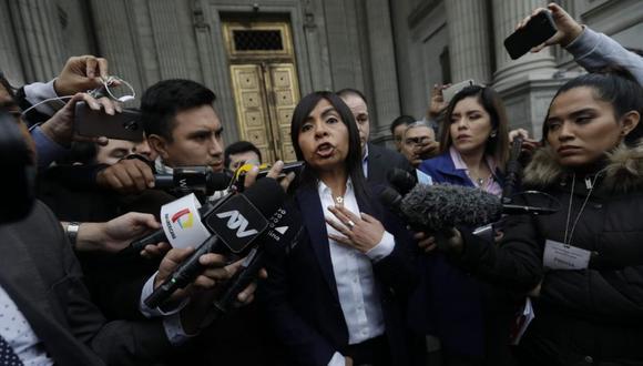 """Giulliana Loza precisó que Jorge Yoshiyama se está """"contradiciendo"""" con su declaración anterior y aseguró que tendrá que probar lo que afirma. (Foto: GEC)"""