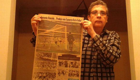 México 70: el coleccionista peruano que conservó 3 tapas históricas de la Blanquirroja en la famosa revista alemana Kicker. FOTO: Eduardo Becerra.