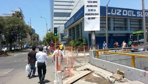 Trabajos en estación Ricardo Palma estarán listos a fin de mes