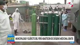 Municipalidad del Rímac y Ejército ofrecen recargas gratuitas de oxígeno a vecinos