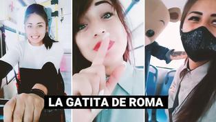 """""""La Gatita de Roma"""": cobradora de bus es la sensación de TikTok"""