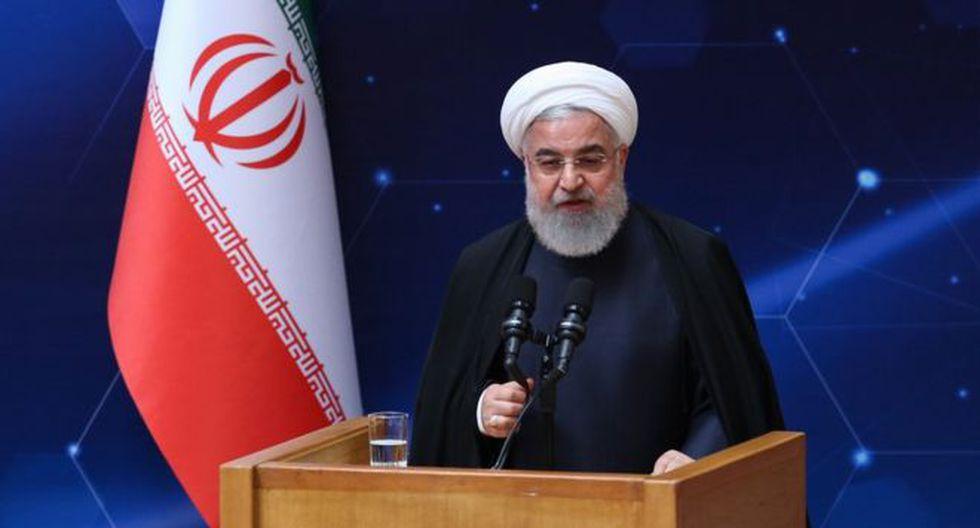 El presidente de Irán, Hassan Rounani emitió sus declaraciones durante una ceremonia para conmemorar el Día Nacional de Tecnología Nuclear en Teherán. Foto: EPA, vía BBC Mundo