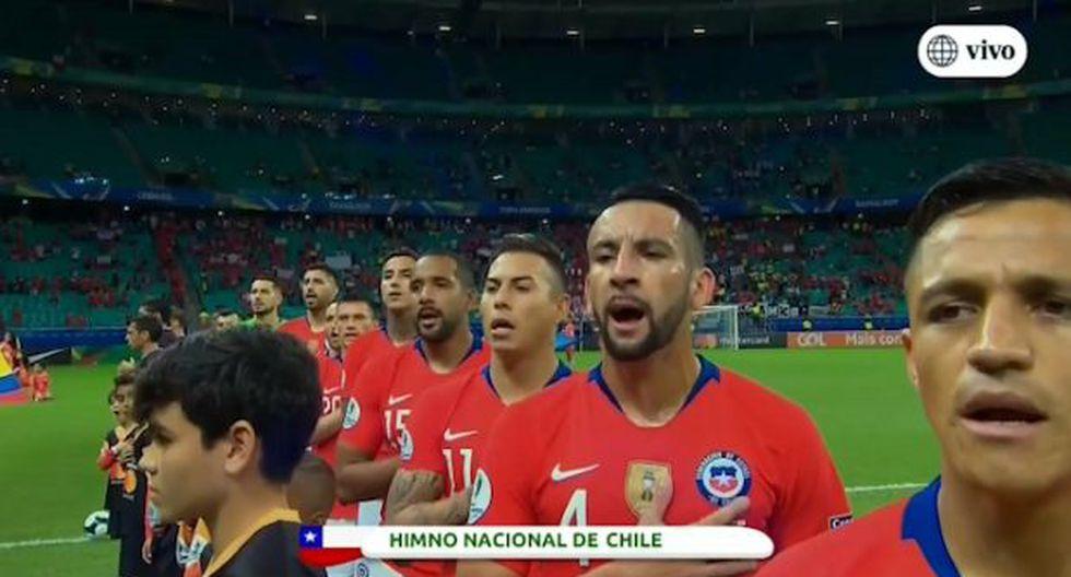 El estadio ubicado en Salvador presenta una buena asistencia de hinchas chilenos. (Foto: captura)