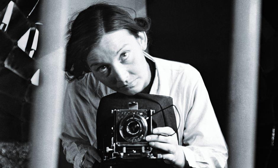 Autorretrato, circa 1938. Cuando era estudiante de la escuela de fotografía de Múnich.