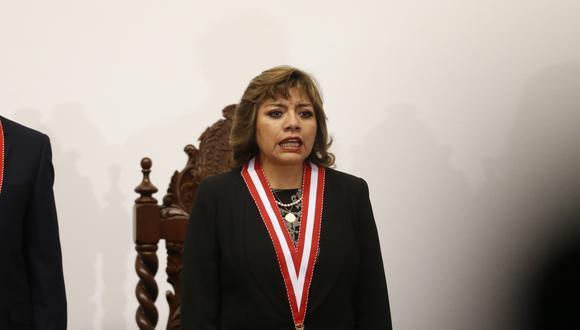 Zoraida Ávalos fue la única fiscal suprema que no asistió a la ceremonia de juramentación de Pedro Chávarry como fiscal de la Nación, en julio pasado. (Foto: El Comercio)