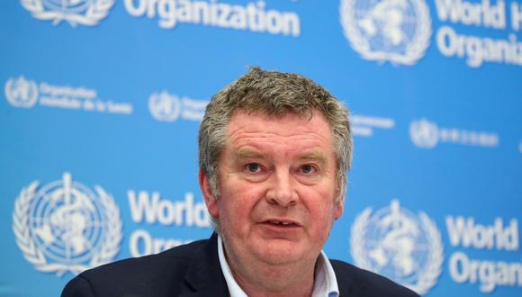 Michael J. Ryan, director ejecutivo del Programa de Emergencias Sanitarias de la OMS, asiste a una conferencia de prensa sobre el coronavirus en Ginebra, Suiza, el 11 de febrero de 2020.  (REUTERS/Denis Balibouse).