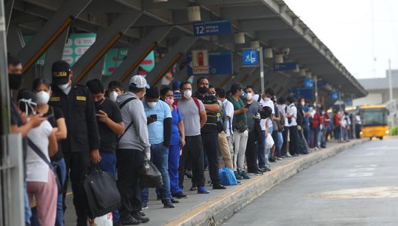 Hoy concesionarios aplican la suspensión parcial del servicio del Metropolitano por deuda de la ATU. (Foto: Gonzalo Córdova/GEC)