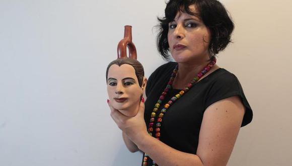 """Artista Susana Torres participa en el proyecto De Voz a Voz Perú con una obra titulada """"Tapado II"""". FOTO: Juan Ponce"""