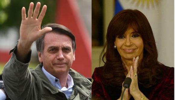 Jair Bolsonaro ha advertido contra el regreso al poder de Cristina Fernández de Kirchner. (Foto: GETTY IMAGES, vía BBC Mundo).