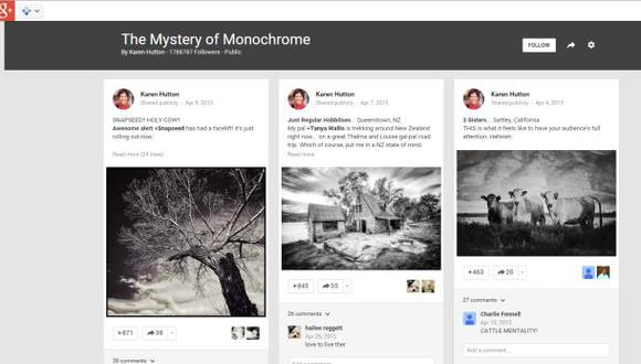 Google+ lanzó Collections para competir con Pinterest