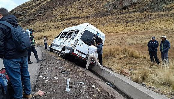 Accidente ocurrió en la ruta que une Puno y Arequipa. (Foto: Cortesía)