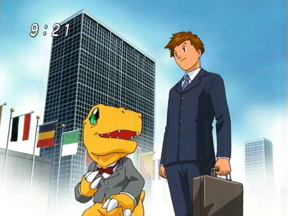 Tai de adulto junto a Agumon (Foto: Toei Animation)