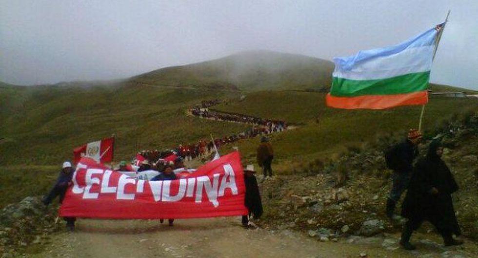 Antimineros amenazan con nuevas marchas a lagunas de Conga