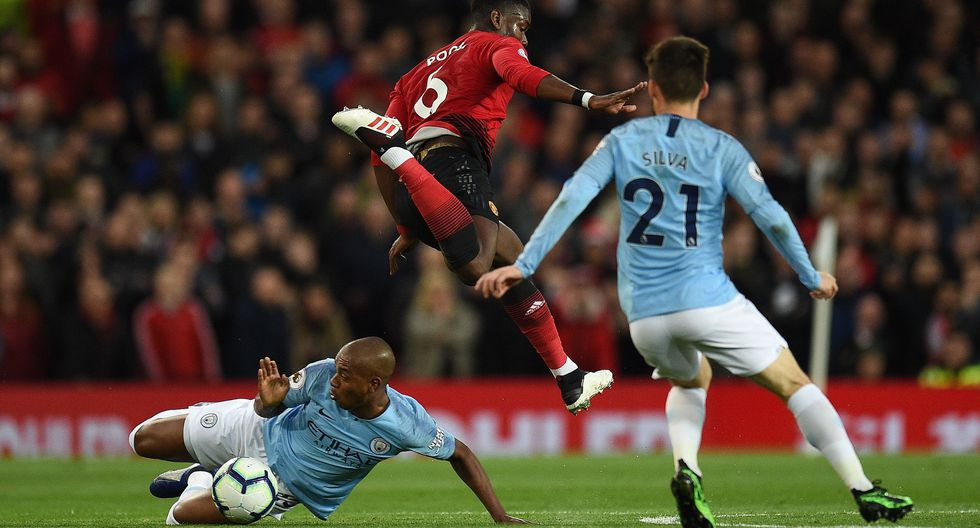 Manchester United vs. Manchester City: mira las mejores imágenes del derbi por la Premier League. (Foto: AFP)