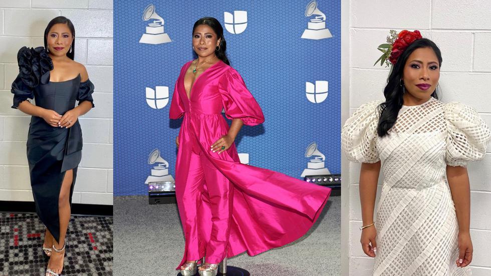 Yalitza Aparicio deslumbró en la premiación de los Latin Grammy con seis cambios de atuendo. Recorre esta galería y descubre los detalles de cada uno de ellos. (Fotos: IG @sophielopez/ AFP)