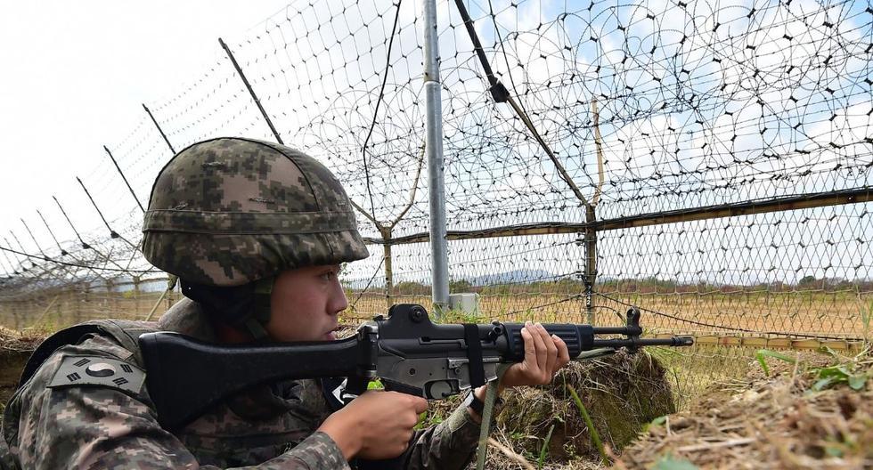 Aquí vemos a un soldado surcoreano en la Zona desmilitarizada de Corea. (Foto: Jung Yeon-je | AFP)