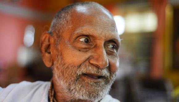 Swami Sivananda estaba a punto de tomar un vuelo cuando se percataron de la edad que tenía. (Foto: AFP)