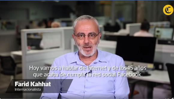 Farid Kahhat analiza los 15 años de Facebook.