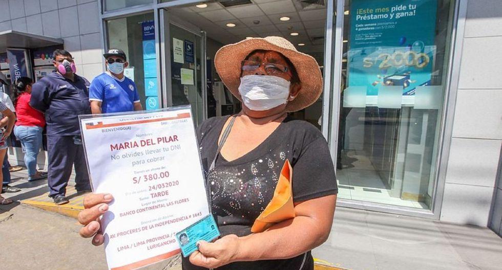 Originalmente fueron entregados S/ 380 a los beneficiarios ubicados en todas las regiones del país (Foto: Andina)