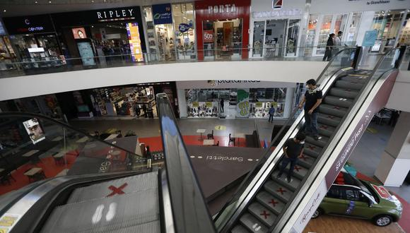 El aforo en centros comerciales se amplió a 60%. (Foto: Francisco Neyra | GEC)