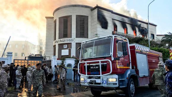 Libia: hombres armados asaltan el ministerio de Relaciones Exteriores en Trípoli. (AFP).
