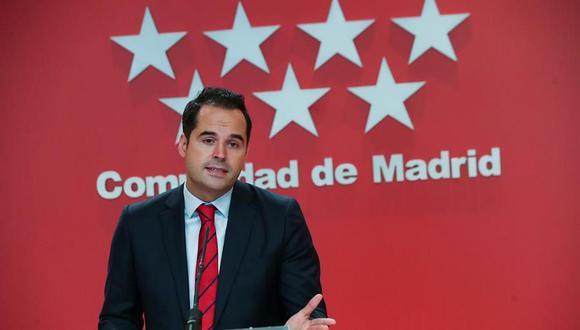 El vicepresidente de la Comunidad de Madrid, Ignacio Aguado, ofrece una rueda de prensa, este miércoles sobre las medidas para afrontar la pandemia de coronavirus. (EFE/ David Fernández).