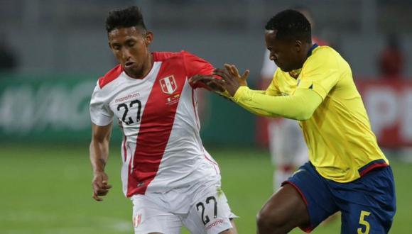 Christofer Gonzáles volvió a la selección peruana después de dos años. (Foto: Twitter Selección Peruana)