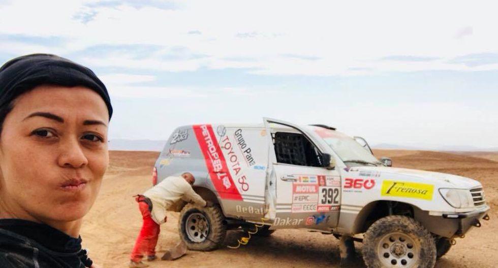 Fernanda ya está en Argentina disputando la décima etapa del Dakar 2018. (Foto: Facebook).
