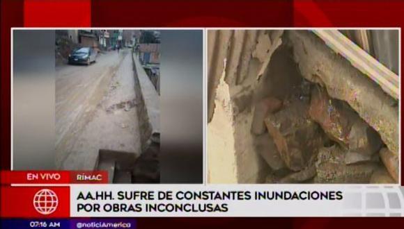 Los vecinos de la zona están muy preocupados. (Foto: Captura América Noticias)