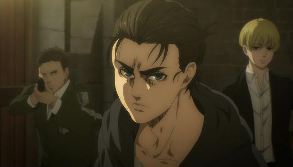 """Eren Jaeger fue acorralado en el último capítulo de """"Shingeki no Kyojin"""" (Foto: MAPPA Studio)"""