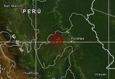 Ucayali: sismo de magnitud 5,3 se reportó en Curimana, informó el IGP